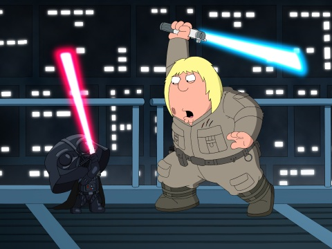 "Aaron Wallace reviews ""Family Guy"": Something, Something, Something, Dark Side at DVDizzy.com"