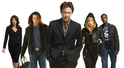 "Aaron Wallace reviews ""Leverage"": Season 3 at DVDizzy.com"